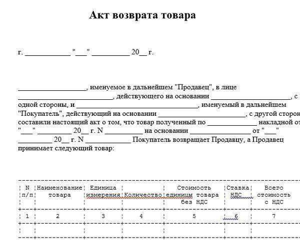 Возврат товара надлежащего качества поставщику документальное ... b2b0e262d4a2c